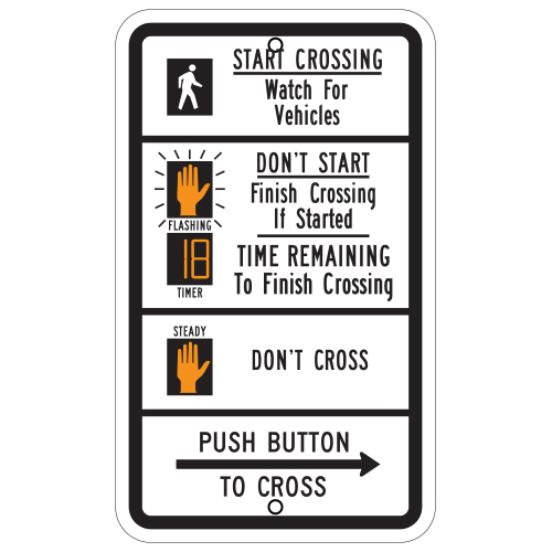Pedestrian Traffic Signal Sign (countdown)