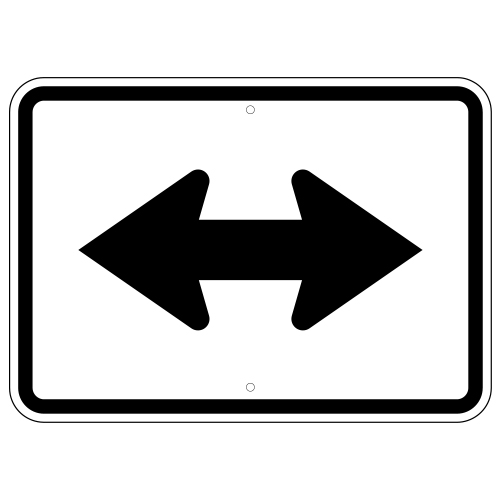 Double Arrow Auxiliary Sign
