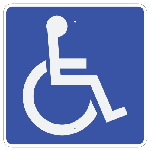 Handicap Accessible Symbol Sign