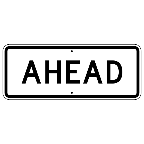 Ahead Auxiliary Sign