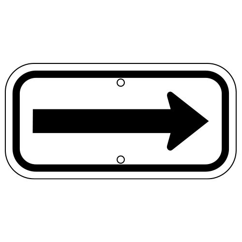 Arrow Sign, Black