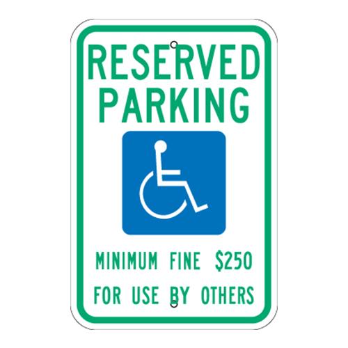 Reserved Parking, Handicap Symbol Sign (Nevada)