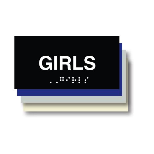 Girls ADA Restroom Plaque