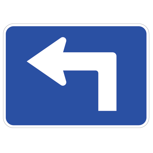 Advance Turn Arrow Auxiliary Sign, Blue
