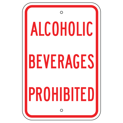 Alcoholic Beverages Prohibited Sign