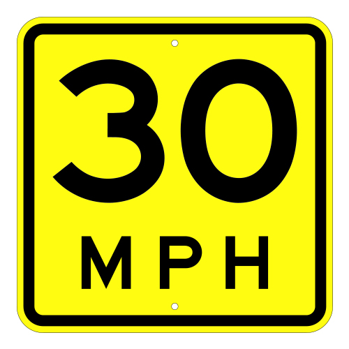 Advisory Speed Plaque