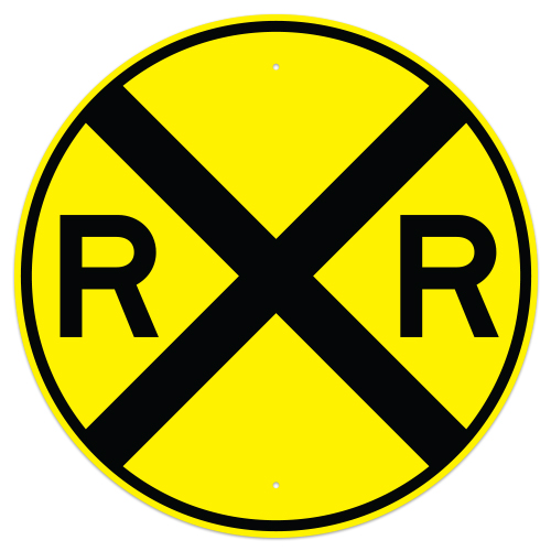 Railroad Crossing Advance Sign