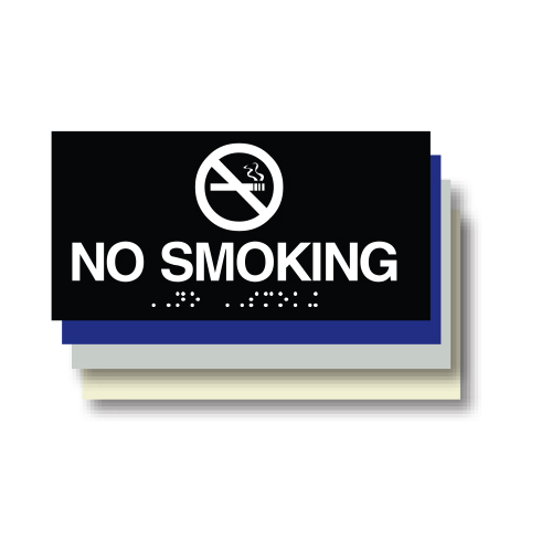 No Smoking ADA Plaque
