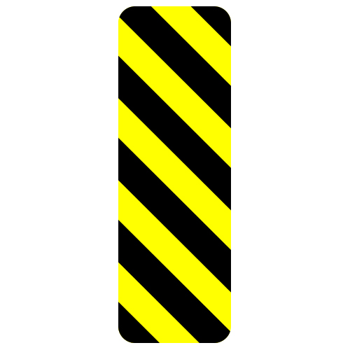 Hazard Marker Sign, Left