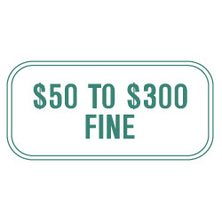 $50 to $300 Fine Sign, Green (Missouri)