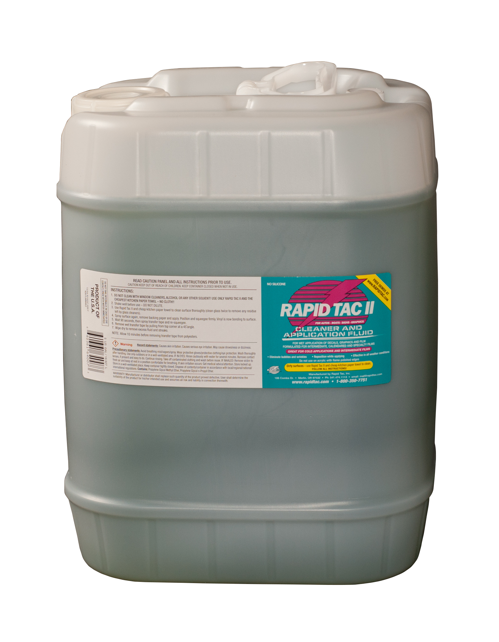 Rapid Tac II - 5 Gallon Bottle