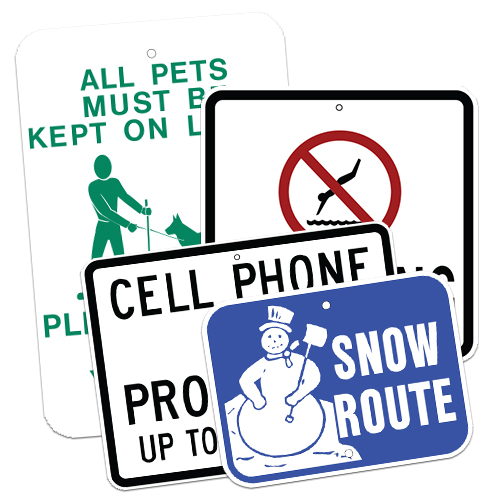 Courtesy & Restrictive Signs