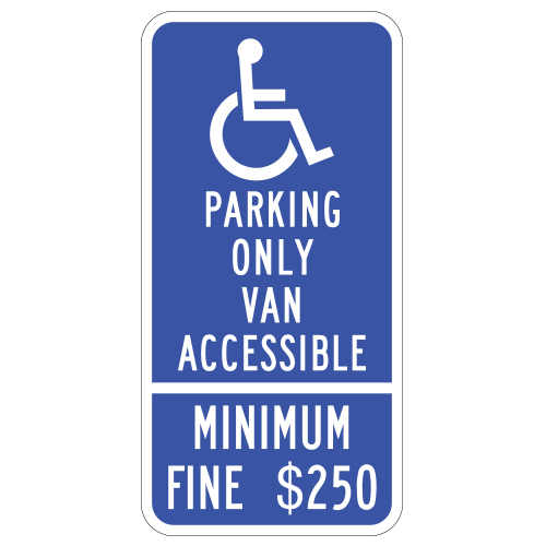 Handicap Symbol, Van Accessible Sign (California)