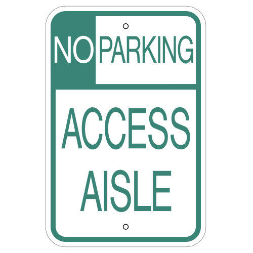 No Parking Access Aisle Sign (Hawaii)