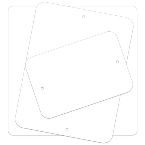 .040 Painted Blanks – Radius Corners