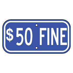 $50 Fine Sign