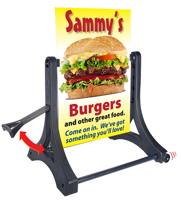 Rolling Swinger® Ready-4-Graphics™ Sidewalk Sign