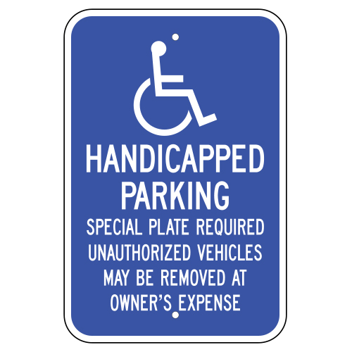 Handicapped Parking Sign (Massachusetts)