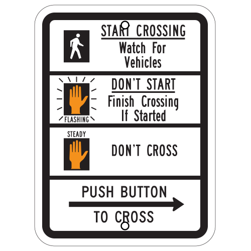 Pedestrian Traffic Signal Sign (symbol)