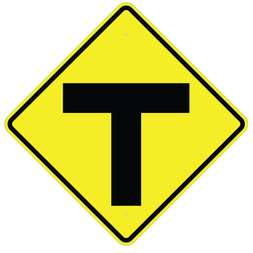 T Intersection Symbol Sign