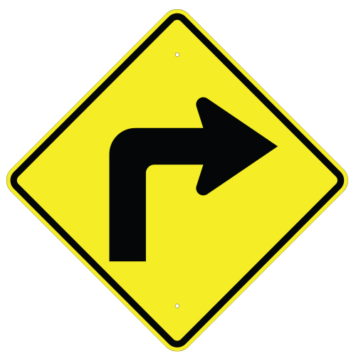 Right Turn Arrow Sign