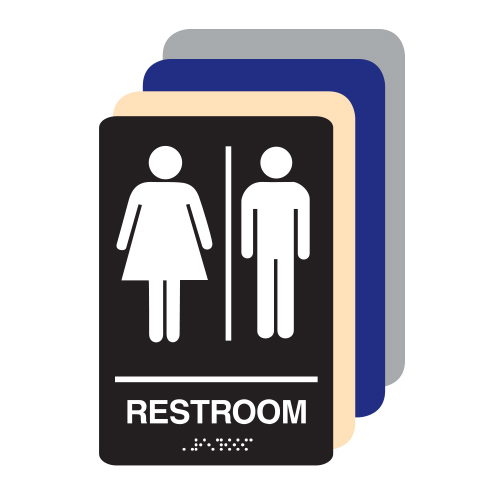 Unisex ADA Restroom Sign