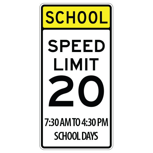 School Days Speed Limit 20, with Time Zone