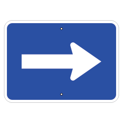 Arrow Auxiliary Sign, Blue
