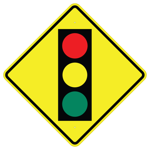 Signal Ahead Symbol Sign