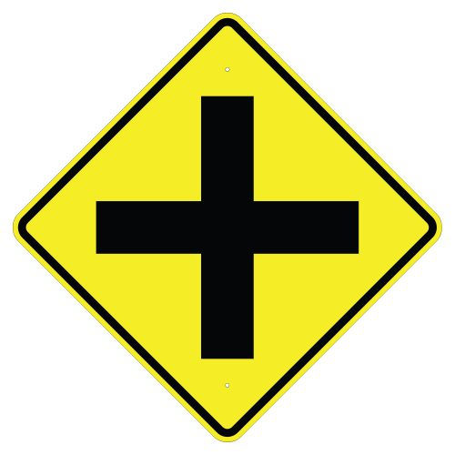 Cross Road Symbol Sign