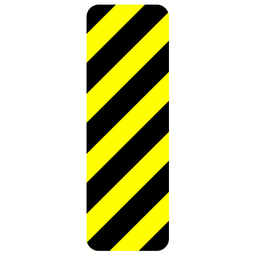 Hazard Marker Sign, Right