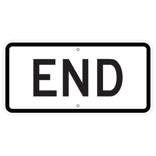 End Auxiliary Sign