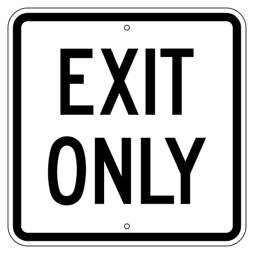 Exit Only Sign (Square)