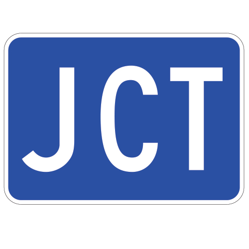 JCT Route Auxiliary Sign, Blue