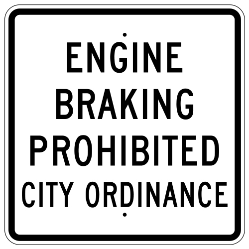 Engine Braking Prohibited Sign